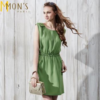 MONS英式氣質造型顯瘦洋裝