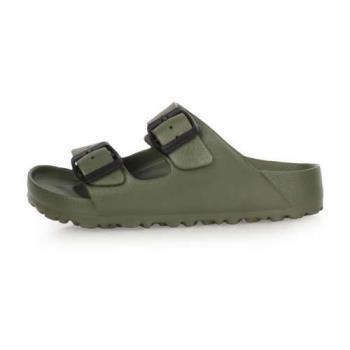 LOTTO 男女大童BURANO勃肯拖鞋-涼鞋 游泳 訓練 海邊 海灘 沙灘 戲水 軍綠