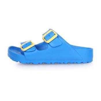 LOTTO 男女大童BURANO勃肯拖鞋-涼鞋 游泳 訓練 海邊 海灘 沙灘 戲水 藍黃
