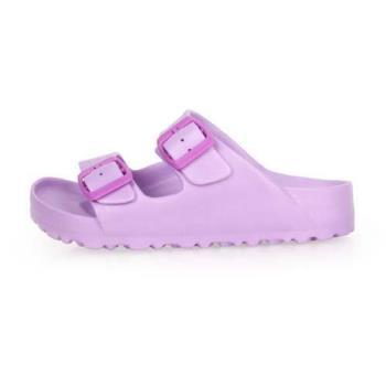 LOTTO 男女大童BURANO勃肯拖鞋-涼鞋 游泳 訓練 海邊 海灘 沙灘 戲水 紫