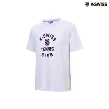 K-Swiss Tennis Club Tee印花短袖T恤-男-白