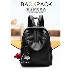 【 LOVE BAG】日韓街頭小熊吊飾軟皮後背包