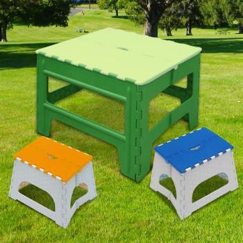 Wally Fun 戶外休閒折疊桌椅組 -1桌2椅 (綠桌+椅子顏色隨機)