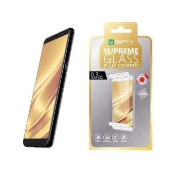 AmazingThing 三星 Galaxy A8 Plus(2018) 滿版強化玻璃保護貼(黑)