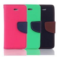 Apple iPhone 6/6s  4.7吋馬卡龍雙色手機皮套 撞色側掀支架式皮套 矽膠軟殼 桃綠黑棕多色可選