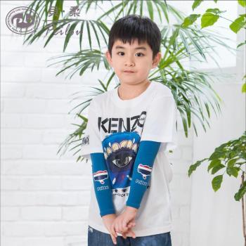 【PEILOU】貝柔高效涼感防蚊抗UV親子袖套_兒童泰國象
