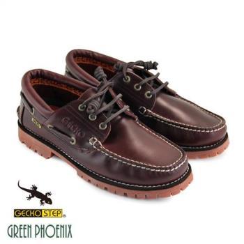 GECKO STEP【SNAIL蝸牛 姊妹品牌】男款經典仿舊釘扣縫線全真皮雷根鞋(男鞋)T43-1B850