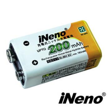 【iNeno】9V/200mAh鎳氫充電電池(1入)