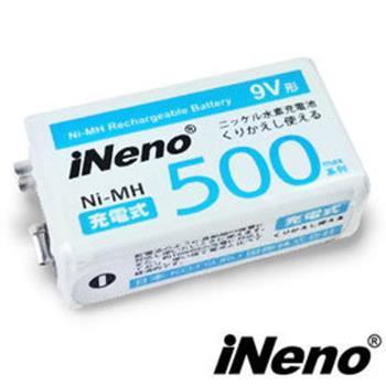 【iNeno】9V/500max鎳氫充電電池(1入)