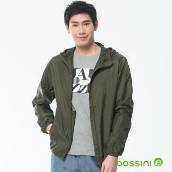 bossini男裝-多功能輕便風衣軍綠