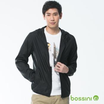bossini男裝-多功能輕便風衣黑