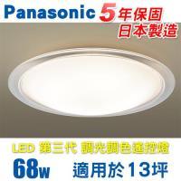 Panasonic 國際牌 LED (第三代) 調光調色遙控燈 HH-LAZ6040209 (全白燈罩+透明邊框) 68W 110V