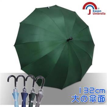 Kasan大傘面12K銀素自動直傘(墨綠)