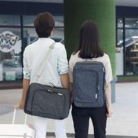【Bunny】韓版男女多功能旅行雙肩斜挎三用背包行李箱拉桿包收納包