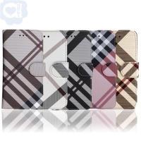 Samsung Galaxy S7 edge 英倫格紋氣質手機皮套 側掀磁扣支架式皮套 矽膠軟殼 5色可選