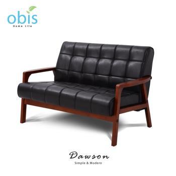沙發/皮質沙發/雙人沙發 Dawson現代風復古雙人皮質沙發【obis】