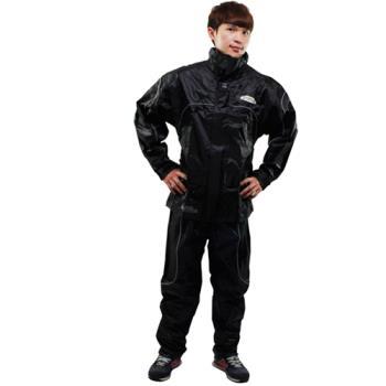 天龍牌 新重裝上陣F1機車型風雨衣- 黑色