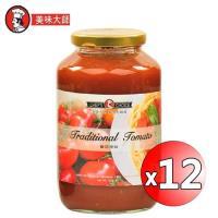 美味大師 義大利麵醬-蕃茄原味720g x12入