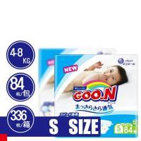 GOO.N 日本大王尿布 阿福狗紙尿褲 S(84x4包/箱)