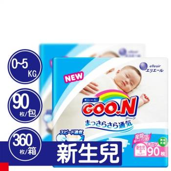 GOO.N 日本大王尿布 阿福狗紙尿褲 NB(90x4包/箱)