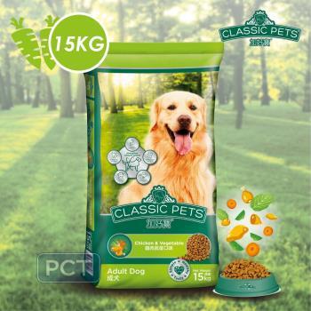 加好寶 乾狗糧狗飼料雞肉蔬菜口味15kg*1