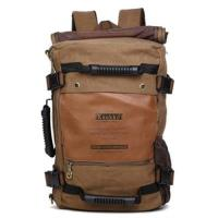 【米蘭精品】雙肩包帆布後背包-多功能大容量戶外旅行男包包2色73re2