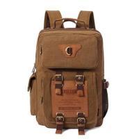 【米蘭精品】雙肩包帆布後背包-精選大容量旅行耐磨男包包6色73re9