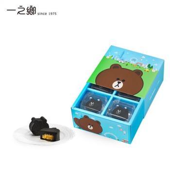一之鄉-LINE FRIENDS 熊大巧克力鳳梨酥禮盒
