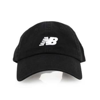 NEWBALANCE 棒球帽-帽子 鴨舌帽 慢跑 路跑 遮陽 防曬 NB 黑白