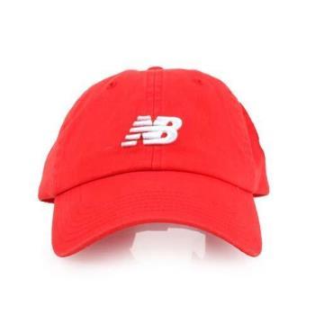 NEWBALANCE 棒球帽-帽子 鴨舌帽 慢跑 路跑 遮陽 防曬 NB 紅白