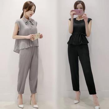 韓國KW 現貨名媛穿搭壓摺顯瘦長褲
