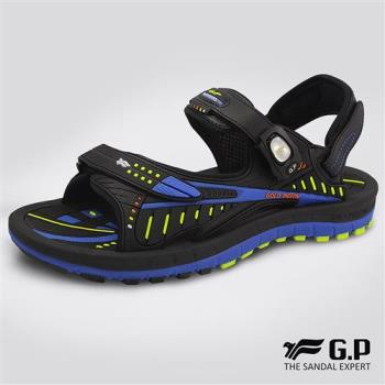 G.P 磁扣兩用緩震Q軟涼拖鞋G8663-寶藍色(SIZE:38-44 共三色)