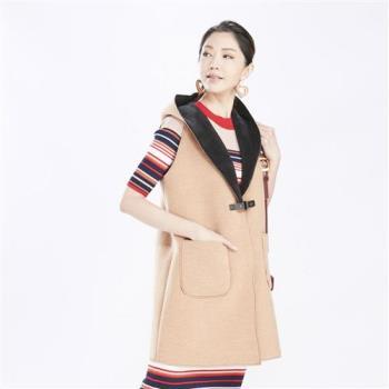 QWI韓國原裝進口雙穿長版背心外套
