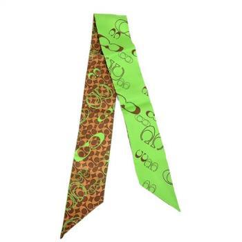 COACH 兩面時尚領巾(綠)
