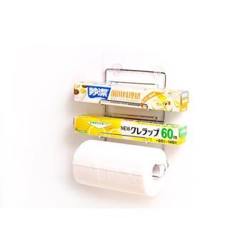 ilf輕鬆黏無痕收納-三合一保鮮膜廚房紙巾架