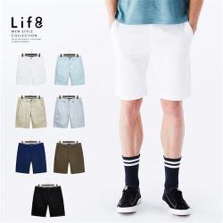 Life8-Casual 彈力舒適 經典多色短褲-02472