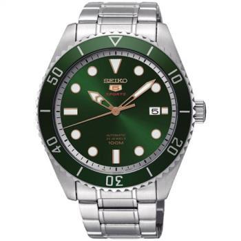 SEIKO 精工5號經典復刻機械錶(綠/44mm) 4R35-02D0G SRPB93J1