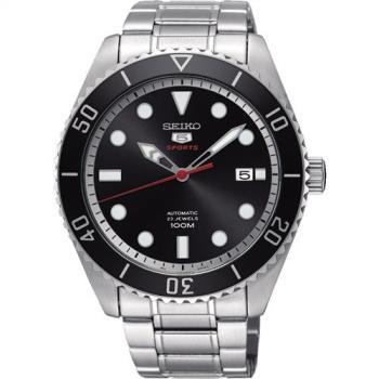 SEIKO 精工5號經典復刻機械錶(黑/44mm) 4R35-02D0D SRPB91J1