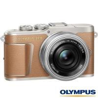 送64G+原廠電池+清潔組+保護貼+相機包+回函送皮套肩帶組~ OLYMPUS E-PL9 +14-42mm EZ 電動鏡組(EPL9,公司貨)