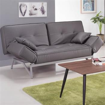 【H&D】貓抓皮造型沙發床-灰皮