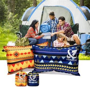 充氣枕 自動充氣枕 午休 休閒 民族風 戶外充氣枕 露營 辦公