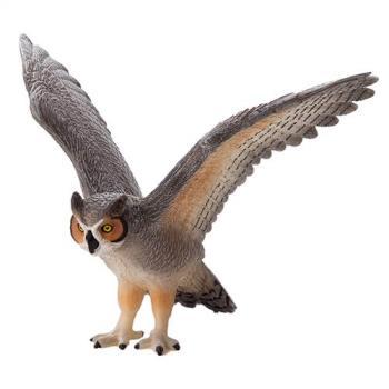 【MOJO FUN 動物模型】動物星球頻道獨家授權 - 大角貓頭鷹 387284