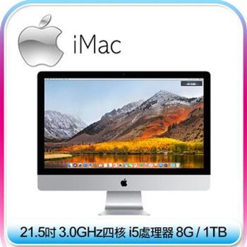 【Apple】 iMac 21.5吋 4K/i5四核3.0GHz/8G/1TB 桌上型電腦 (MNDY2TA/A)
