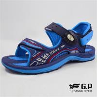G.P 兒童輕量緩震磁扣兩用涼拖鞋G8675B-寶藍色(SIZE:31-35 共三色)