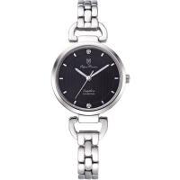 Olym Pianus奧柏表~典雅直線壓紋 腕錶~黑 2483LS