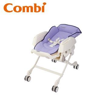 日本Combi Letto手動安撫餐搖椅ST款(薰衣草/銀杏黃) 贈餐椅蚊帳+餐椅透氣墊