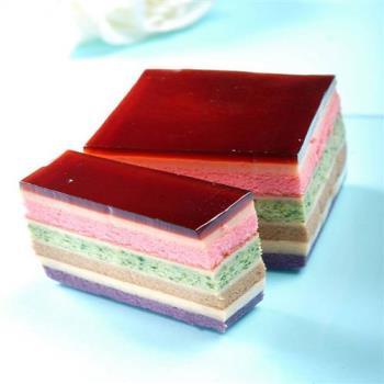 老耿 冰晶千層彩虹布丁蛋糕(四入)