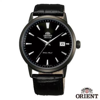 ORIENT東方錶 當代時尚黑鋼自動上鍊機械腕錶-黑x41mm FER27001B0