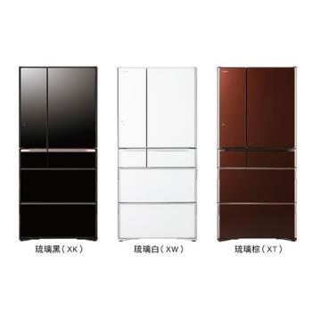 HITACHI 日立 676L日本原裝變頻六門冰箱 RG-680GJ