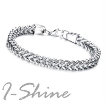 【I-Shine】西德鋼-個性魅力-中性粗鍊條鈦鋼個性手環(個性魅力)